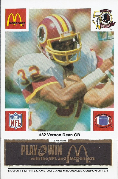 Vernon Dean 1986 McDonald's Black Tab