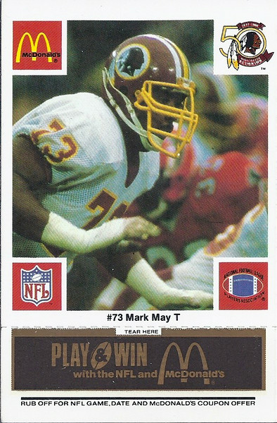 Mark May 1986 McDonald's Black Tab