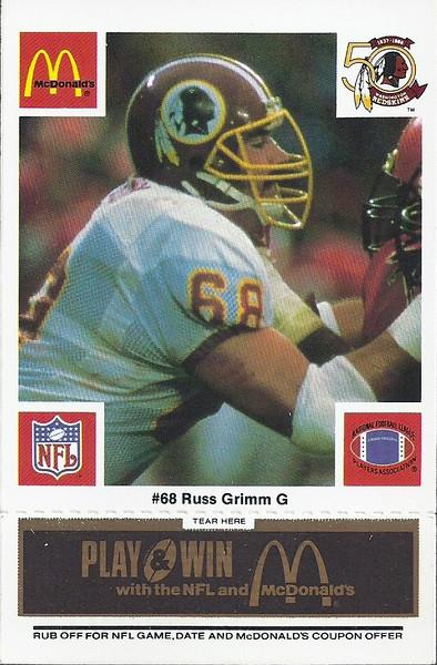 Russ Grimm 1986 McDonald's Black Tab