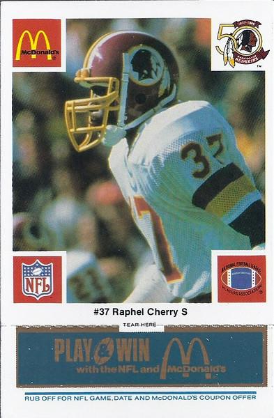 Raphel Cherry 1986 McDonald's Blue Tab