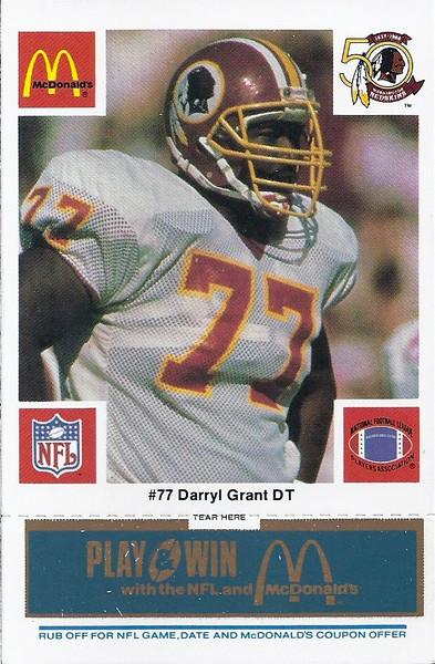 Darryl Grant 1986 McDonald's Blue Tab