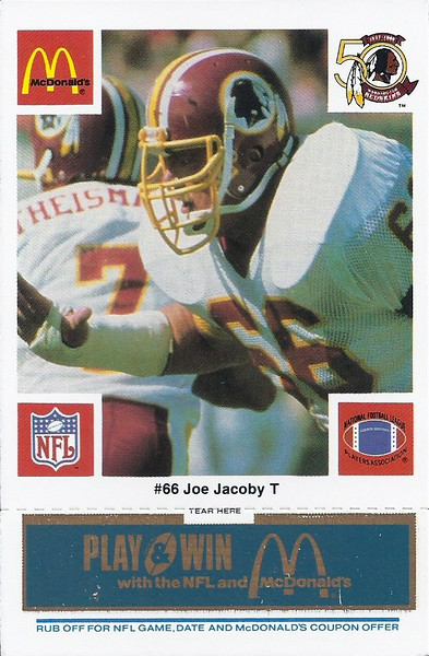 Joe Jacoby 1986 McDonald's Blue Tab