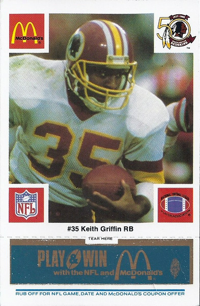 Keith Griffin 1986 McDonald's Blue Tab