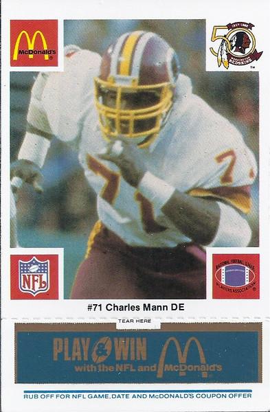 Charles Mann 1986 McDonald's Blue Tab