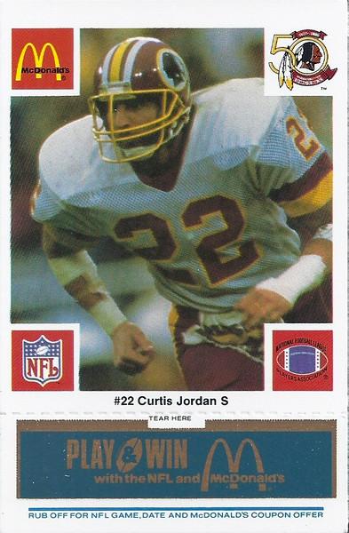 Curtis Jordan 1986 McDonald's Blue Tab