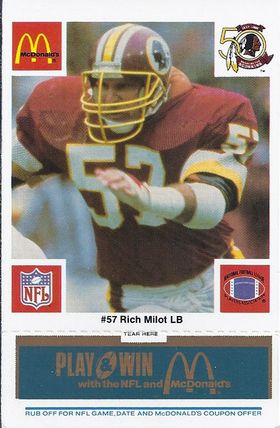 Rich Milot 1986 McDonald's Blue Tab