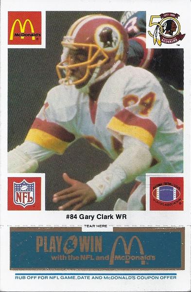 Gary Clark 1986 McDonald's Blue Tab