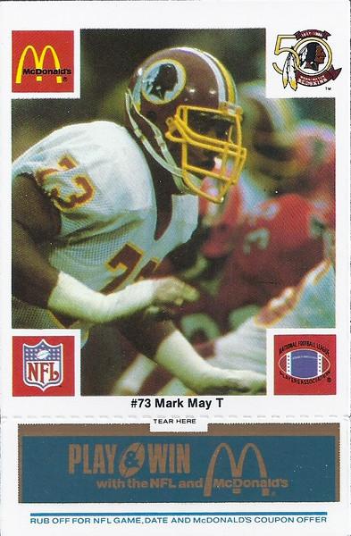 Mark May 1986 McDonald's Blue Tab