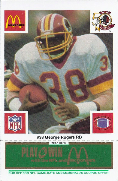 George Rogers 1986 McDonald's Green