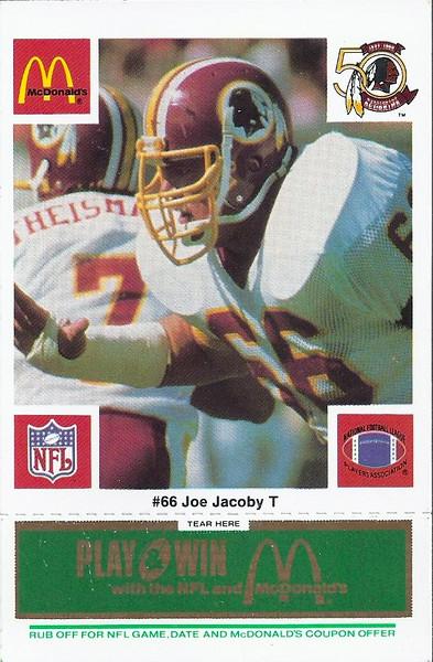 Joe Jacoby 1986 McDonald's Green