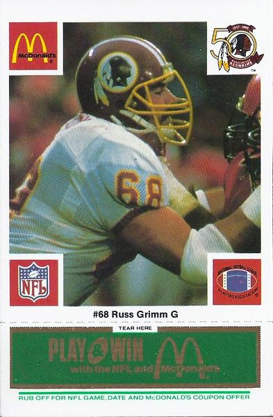 Russ Grimm 1986 McDonald's Green