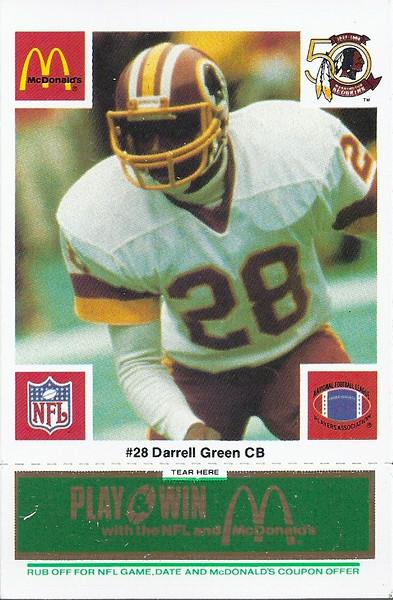 Darrell Green 1986 McDonald's Green