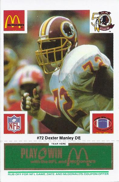 Dexter Manley 1986 McDonald's Green