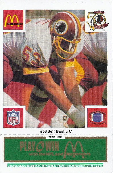 Jeff Bostic 1986 McDonald's Green