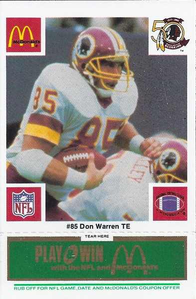 Don Warren 1986 McDonald's Green