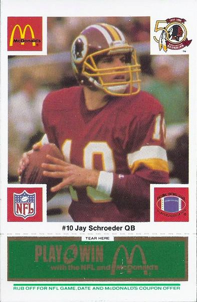 Jay Schroeder 1986 McDonald's Green