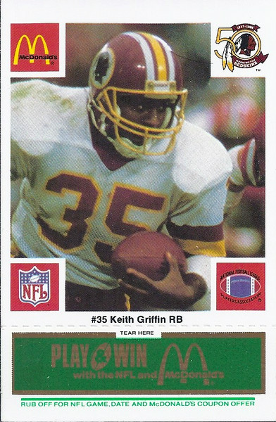 Keith Griffin 1986 McDonald's Green