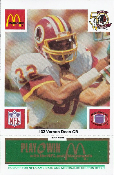 Vernon Dean 1986 McDonald's Green