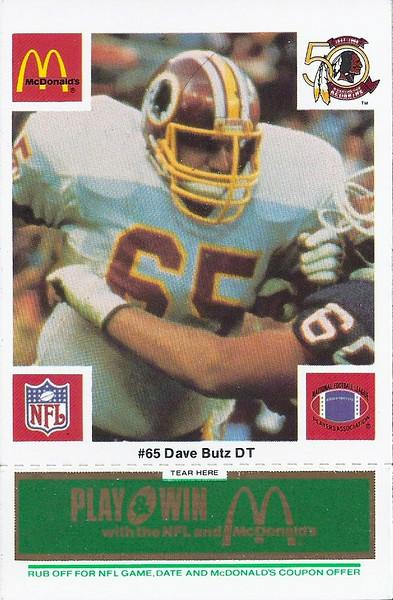 Dave Butz 1986 McDonald's Green