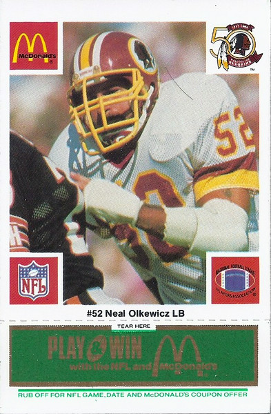 Neal Olkewicz 1986 McDonald's Green