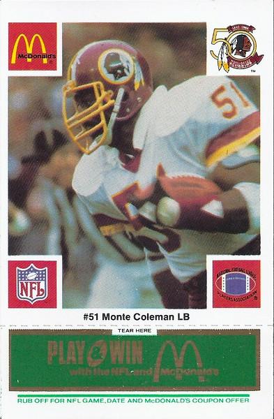 Monte Coleman 1986 McDonald's Green