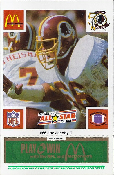 Joe Jacoby 1986 McDonald's National All-Star Green