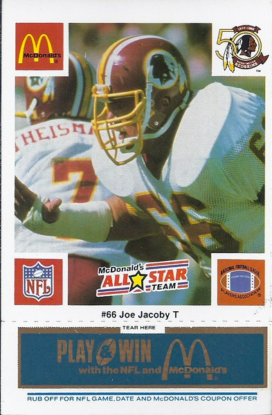 Joe Jacoby 1986 McDonald's National All-Star Blue