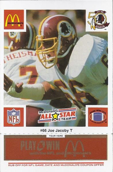 Joe Jacoby 1986 McDonald's National All-Star Orange