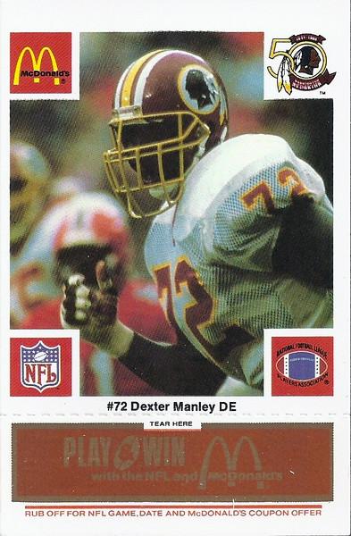 Dexter Manley 1986 McDonald's Orange