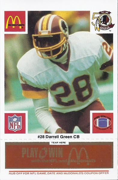 Darrell Green 1986 McDonald's Orange