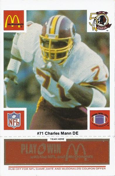 Charles Mann 1986 McDonald's Orange