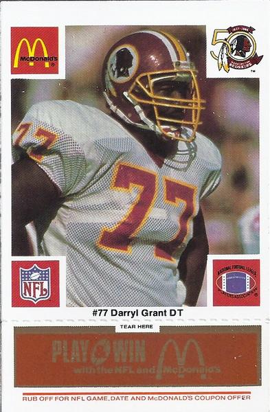 Darryl Grant 1986 McDonald's Orange