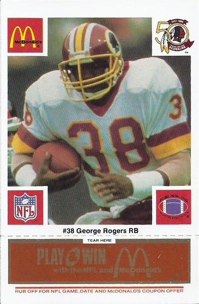 George Rogers 1986 McDonald's Orange