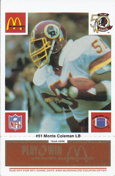 Monte Coleman 1986 McDonald's Orange