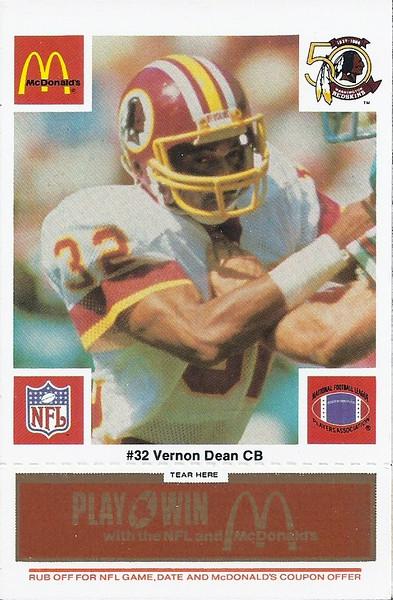 Vernon Dean 1986 McDonald's Orange