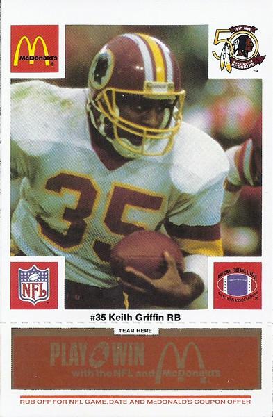 Keith Griffin 1986 McDonald's Orange