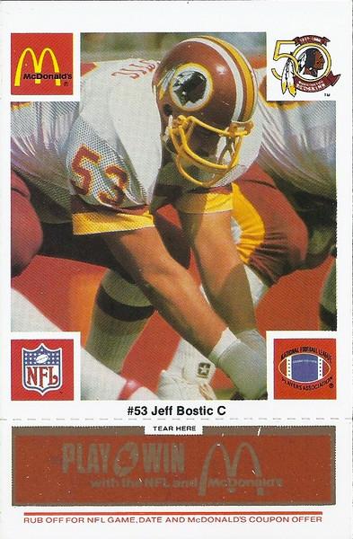 Jeff Bostic 1986 McDonald's Orange