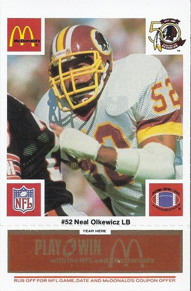 Neal Olkewicz 1986 McDonald's Orange