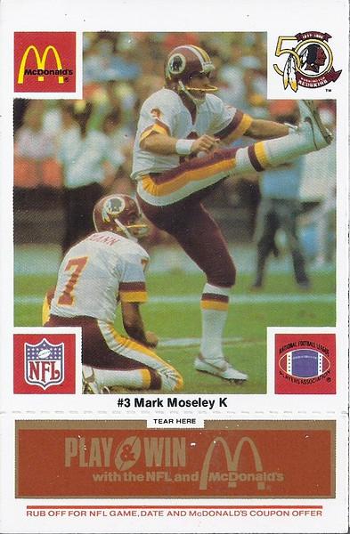 Mark Moseley 1986 McDonald's Orange