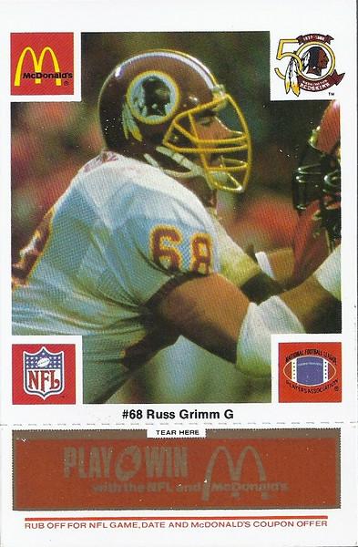 Russ Grimm 1986 McDonald's Orange