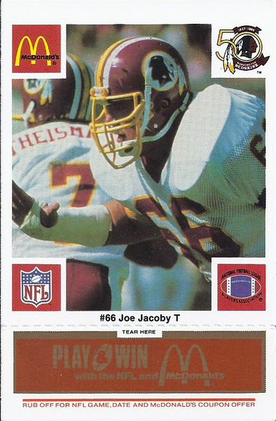 Joe Jacoby 1986 McDonald's Orange