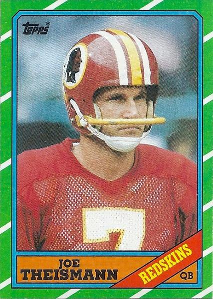 Joe Theismann 1986 Topps