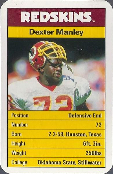 Dexter Manley 1987 ACE Fact Pack UK