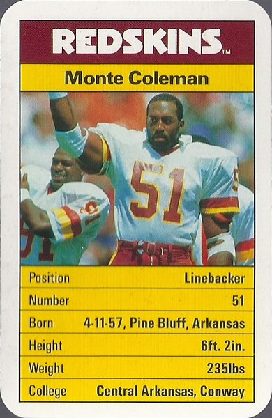 Monte Coleman 1987 ACE Fact Pack UK