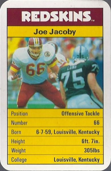 Joe Jacoby 1987 ACE Fact Pack UK
