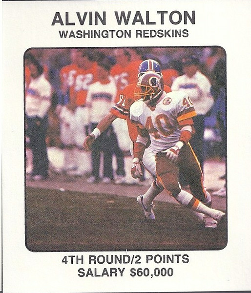 Alvin Walton 1987 Franchise