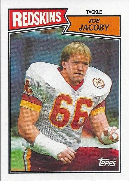 Joe Jacoby 1987 Topps