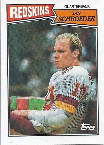 Jay Schroeder 1987 Topps
