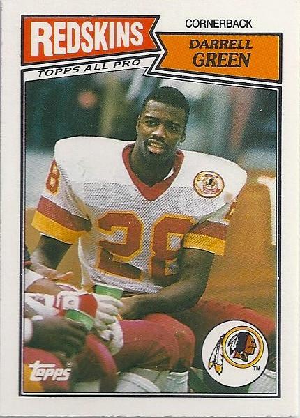 Darrell Green 1987 Topps UK