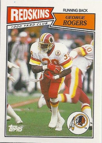 George Rogers 1987 Topps UK